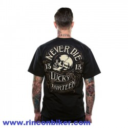 "CAMISETA LUCKY 13 ""NEVER DIE"""