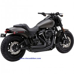 ESCAPE COBRA 909 NEGRO PARA SOFTAIL FAT BOB 2018 Y 2019