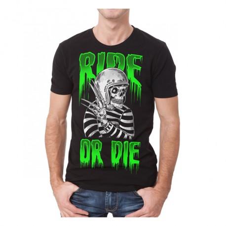 """CAMISETA """"RIDE OR DIE"""" DE DOWN-N-OUT"""